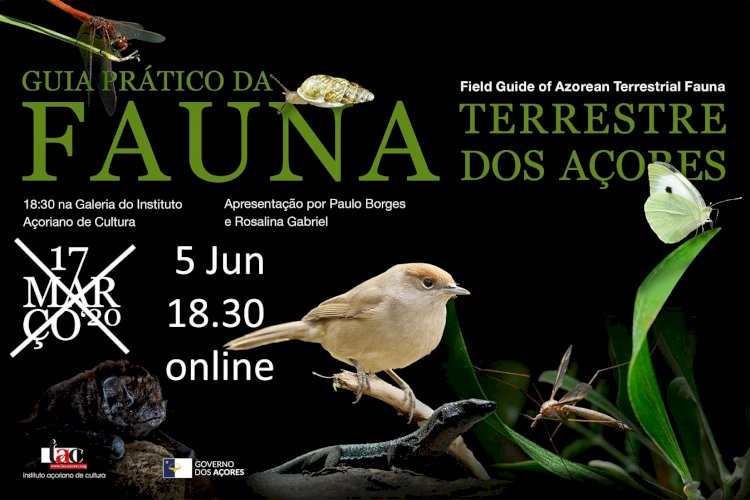 Intituto Açoreano da Cultura lança livro sobre a fauna terrestre dos Açores