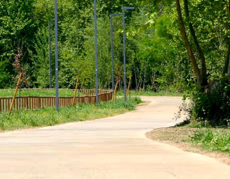 Pelos Trilhos de Portugal-Parque das Azenhas, Trofa