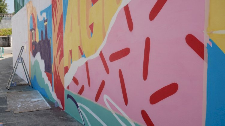 Roteiro de arte urbana aumentado em vários pontos da cidade de Águeda