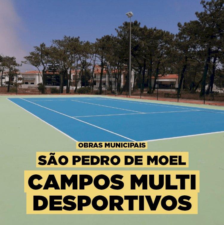 Novo espaço multidesportivo de São Pedro de Moel quase concluido