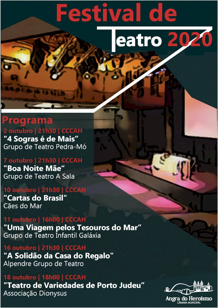 Festival de Teatro 2020 - Em outubro o Teatro está de volta a Angra