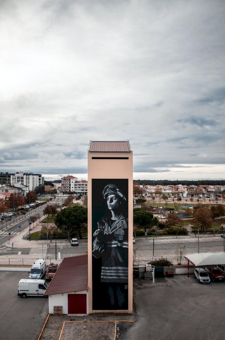 Festival Sopro homenageia bombeiros em arte urbana