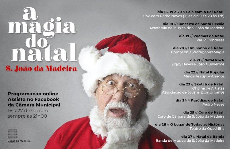 Muncicípio de São João da Madeira promove espetáculos de Natal com transmissão online