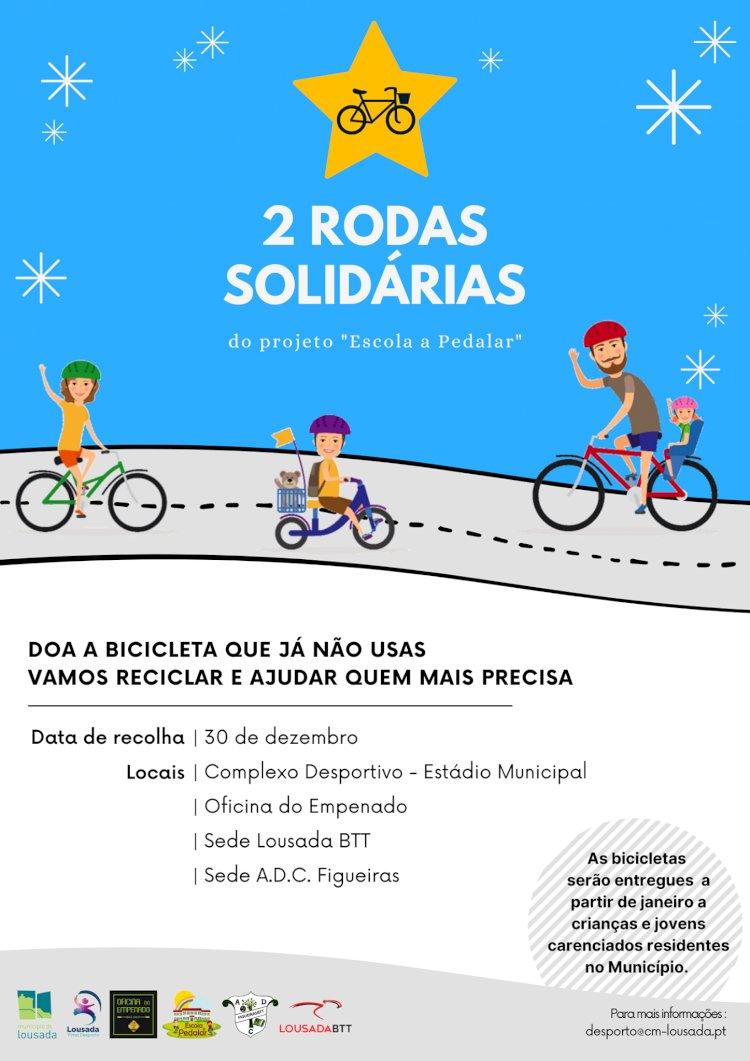 Campanha 2 Rodas Solidárias decorre na Lousada até dia 30 de Dezembro