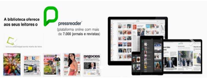 Biblioteca de Santa Maria da Feira oferece acesso gratuito a mais de 7000 jornais e revistas