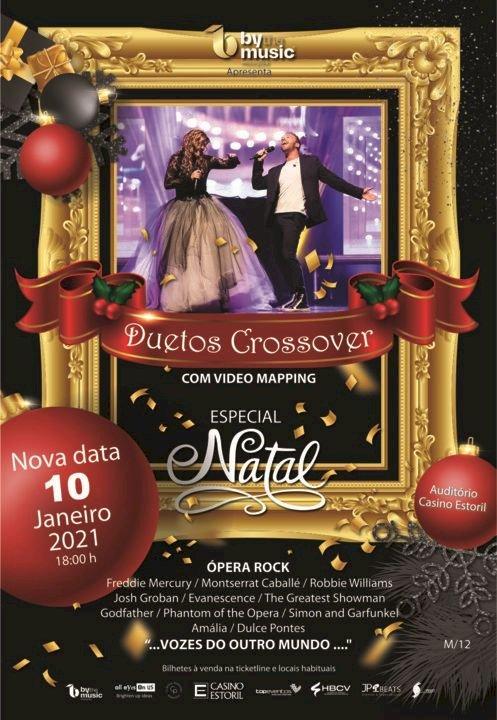 """""""Duetos Crossover"""" em edição de Natal no Auditório do Casino Estoril"""