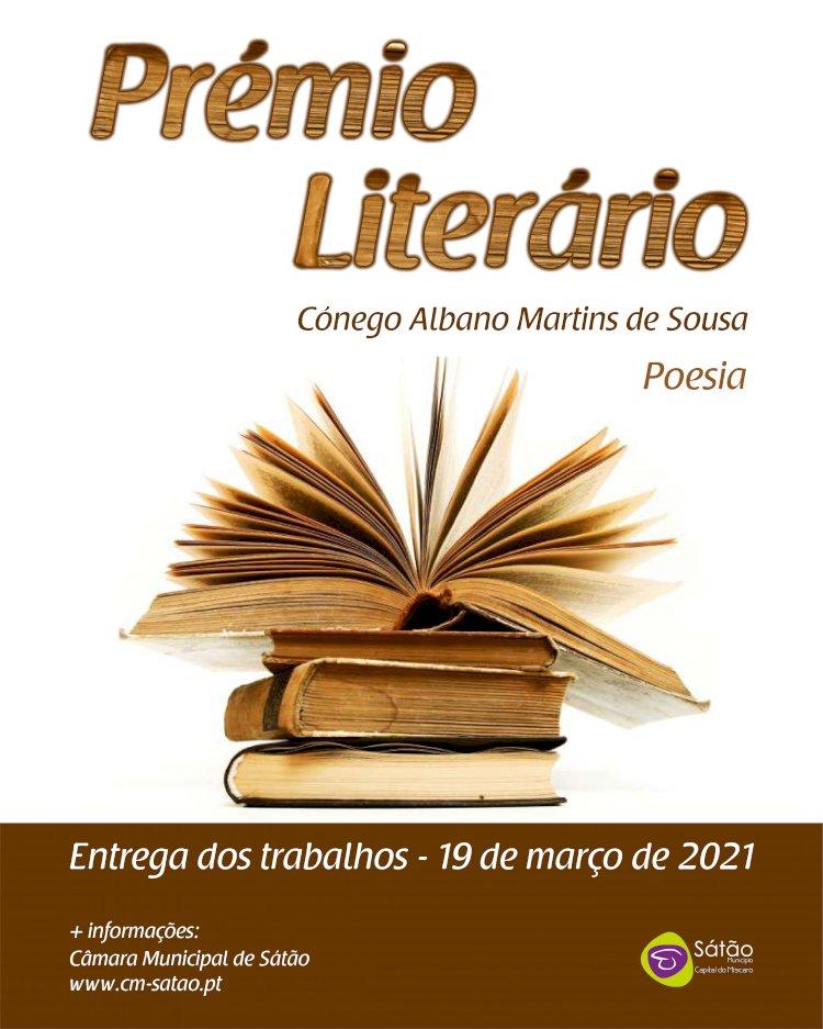 Inscrições abertas para o Prémio Literário Cónego Albano Martins de Sousa