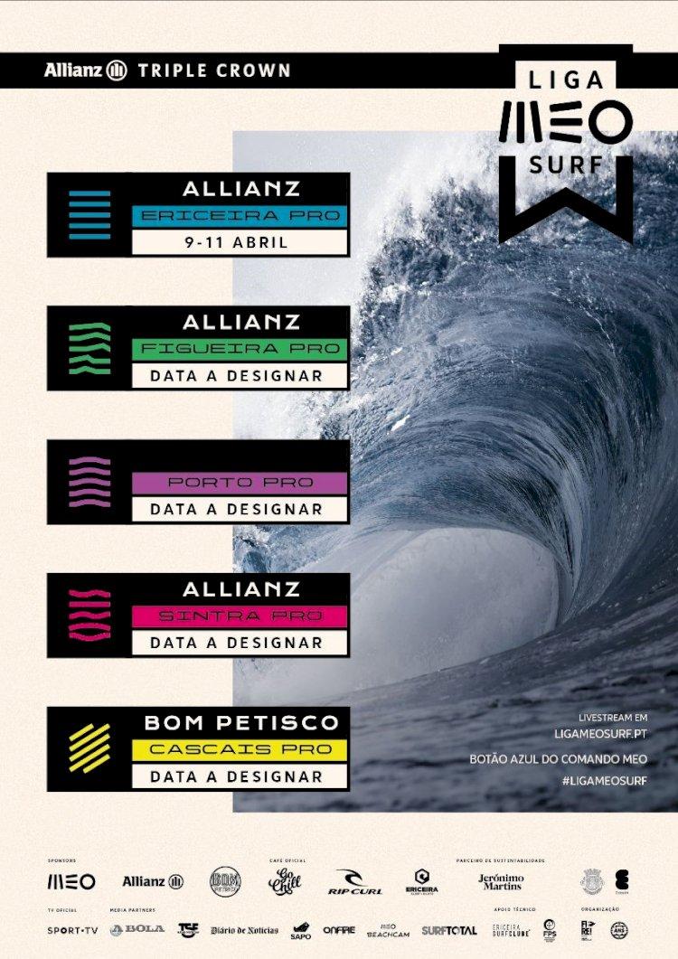 Liga MEO Surf com início marcado para 9 a 11 de Abril na Ericeira