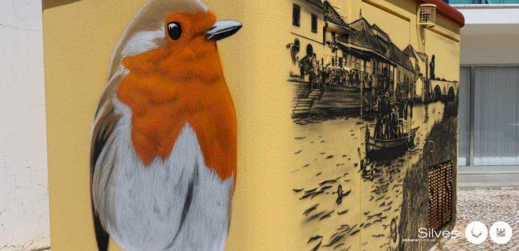 Nova obra de arte urbana em Silves