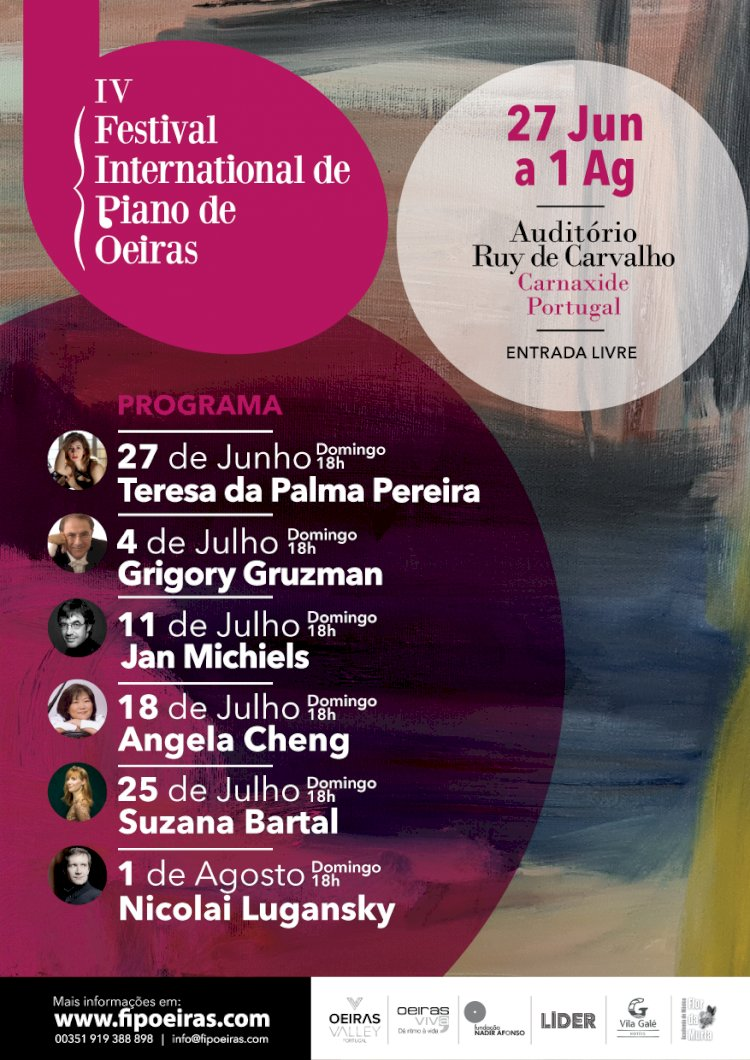Seis dos melhores pianistas do Mundo em seis domingos seguidos em Oeiras
