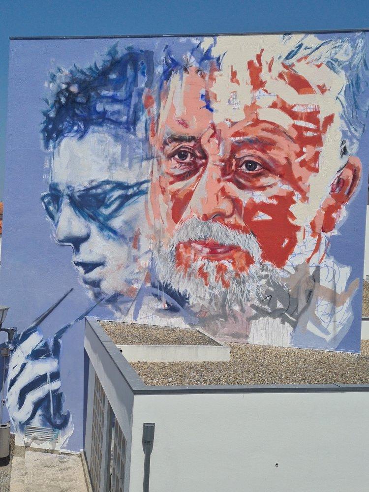 'Vila das Artes' homenageia 'o eterno mestre dos inquietos' com Pintura Mural