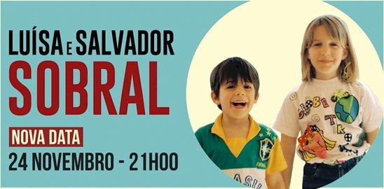 Luísa e Salvador Sobral dia 24 de Novembro no Teatro Tivoli BBVA